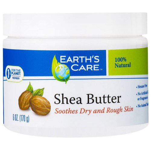 Earth's Care, Shea Butter, 100% Pure, 6 oz (170 g) Review