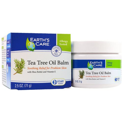 Earth's Care, Tea Tree Oil Balm, 2.5 oz (71 g) Review
