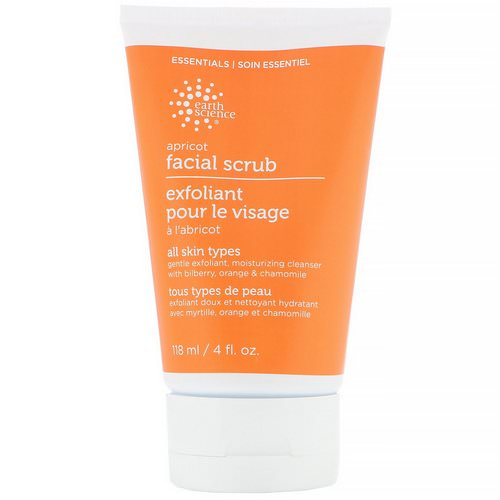 Earth Science, Facial Scrub, Apricot, 4 fl oz (118 ml) Review