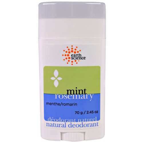 Earth Science, Natural Deodorant, Mint Rosemary, 2.45 oz (70 g) Review
