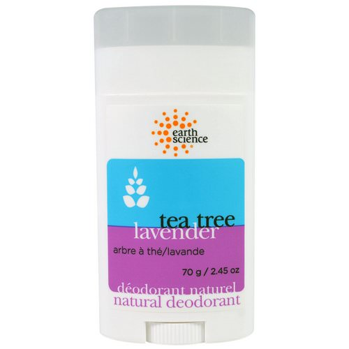 Earth Science, Natural Deodorant, Tea Tree, Lavender, 2.45 oz (70 g) Review