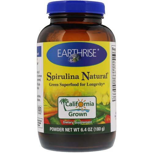 Earthrise, Spirulina Natural Powder, 6.4 oz (180 g) Review