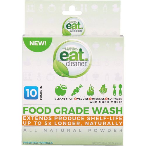 Eat Cleaner, Food Grade Wash, All Natural Powder, 10 Packets, 3.2 oz (90.72 g) Review