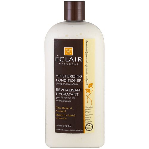 Eclair Naturals, Moisturizing Conditioner, Shea Butter & Oatmeal, 12 fl oz (355 ml) Review