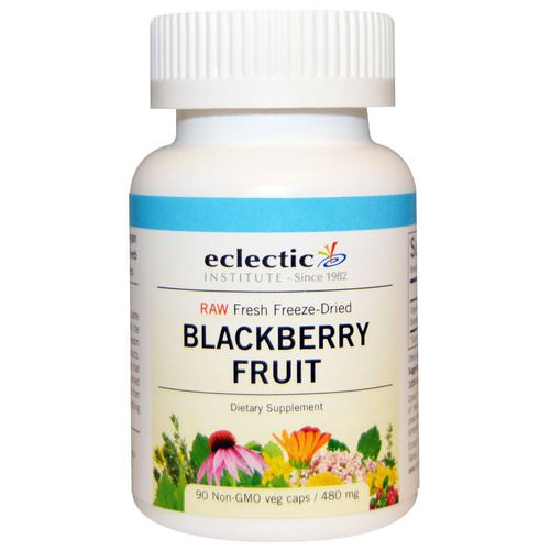 Eclectic Institute, Blackberry Fruit, 480 mg, 90 Non-GMO Veggie Caps Review