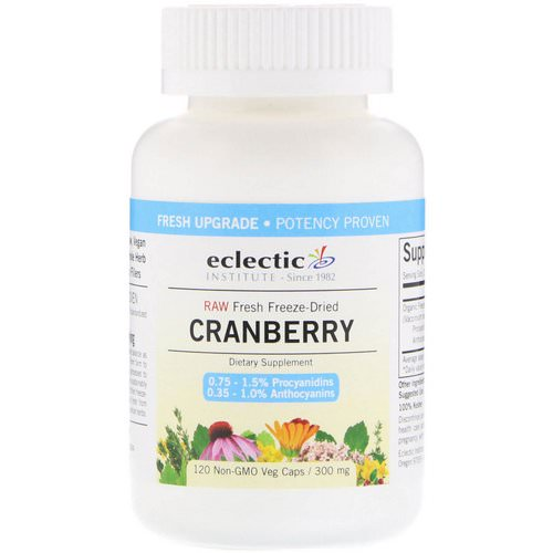 Eclectic Institute, Cranberry, 300 mg, 120 Veg Caps Review