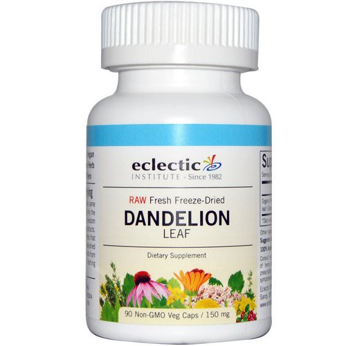 Eclectic Institute, Dandelion Leaf, 150 mg, 90 Non-GMO Veggie Caps Review