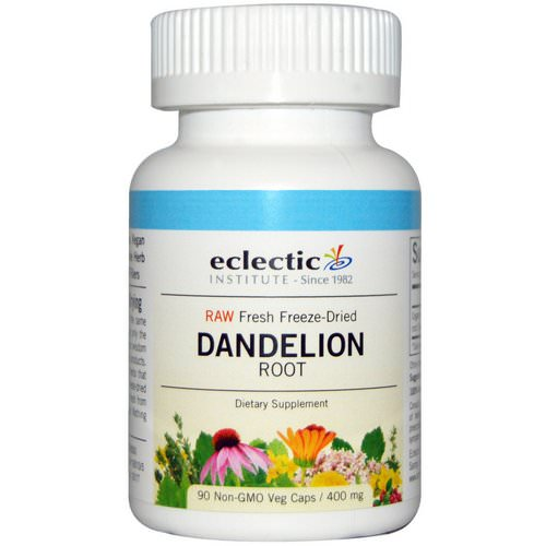 Eclectic Institute, Dandelion Root, Raw, 400 mg, 90 Non-GMO Veggie Caps Review