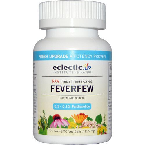Eclectic Institute, Feverfew, 125 mg, 90 Non-GMO Veggie Caps Review