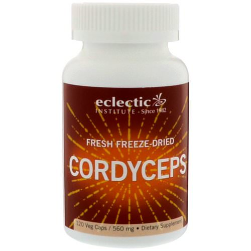 Eclectic Institute, Fresh Freeze-Dried Cordyceps, 560 mg, 120 Veg Caps Review