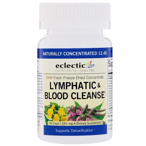 Eclectic Institute, Lymphatic & Blood Cleanse, 285 mg, 45 Veggie Caps Review
