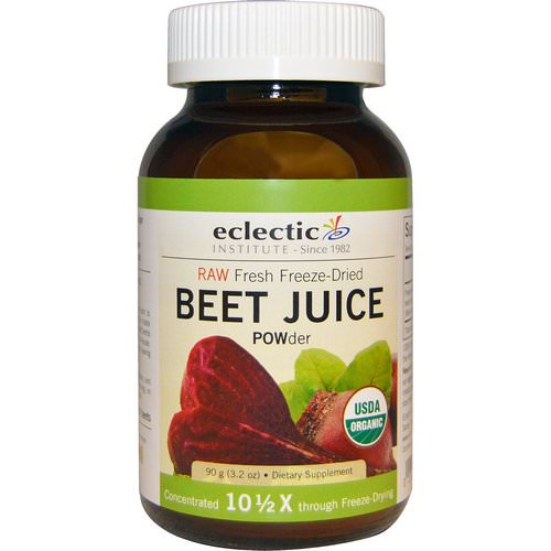 Eclectic Institute, Organic, Beet Juice POWder, 3.2 oz (90 g) Review