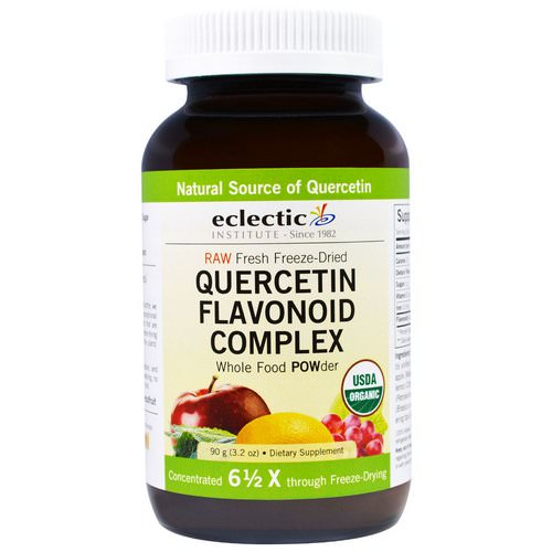 Eclectic Institute, Quercetin Flavonoid Complex, Whole Food POWder, 3.2 oz (90 g) Review