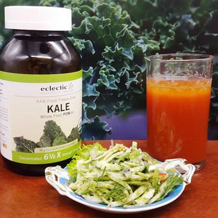 Raw Fresh Freeze-Dried Kale Whole Food Powder