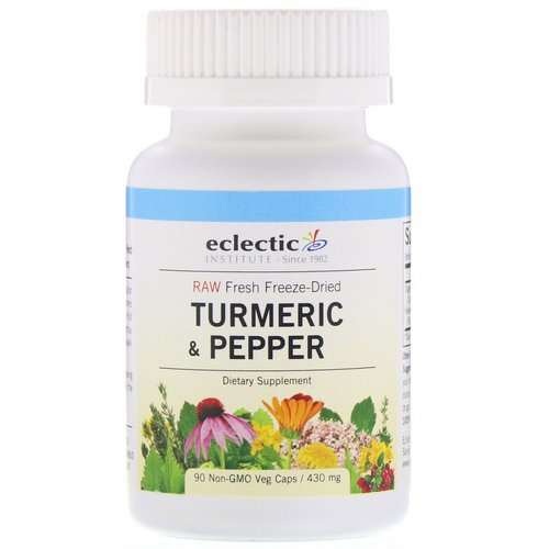 Eclectic Institute, Turmeric & Pepper, 430 mg, 90 Non-GMO Veg Caps Review