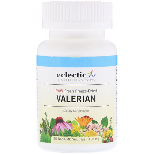Eclectic Institute, Valerian, 425 mg, 90 Veg Caps Review