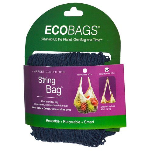 ECOBAGS, Market Collection, String Bag, Long Handle 22 in, Storm Blue, 1 Bag Review