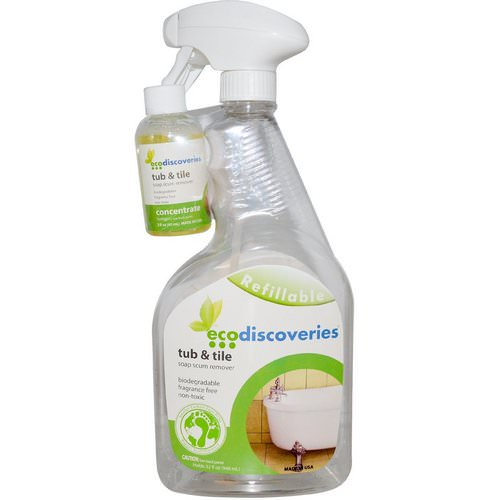 EcoDiscoveries, Tub & Tile, Soap Scum Remover, 2 fl oz (60 ml) Concentrate w/ 1 Spray Bottle Review