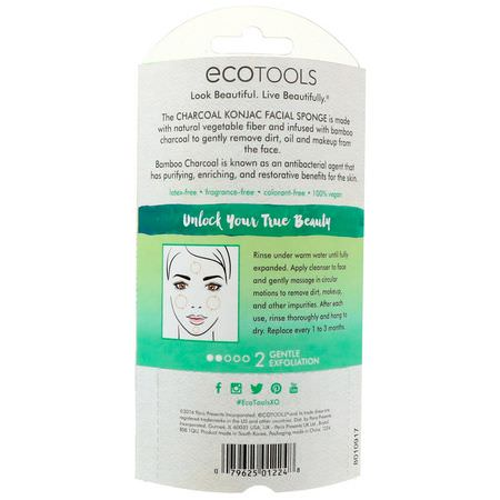 EcoTools, Cleansing Tools, Charcoal or Activated Charcoal