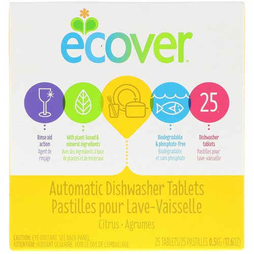 Ecover, Automatic Dishwasher Tablets, Citrus, 25 Tablets, 17.6 oz (0.5 kg) Review