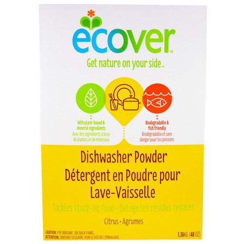 Ecover, Dishwasher Powder, Citrus Scent, 48 oz (1.36 kg) Review
