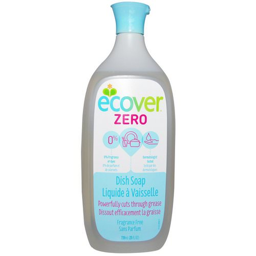 Ecover, Liquid Dish Soap, Zero, Fragrance Free, 25 fl oz (739 ml) Review