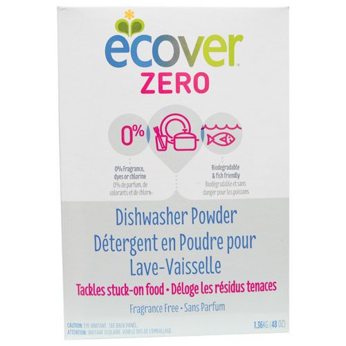 Ecover, Zero Dishwasher Powder, Fragrance Free, 48 oz (1.36 kg) Review