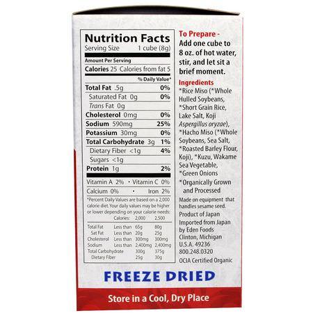 Eden Foods Miso Soup Instant Organic