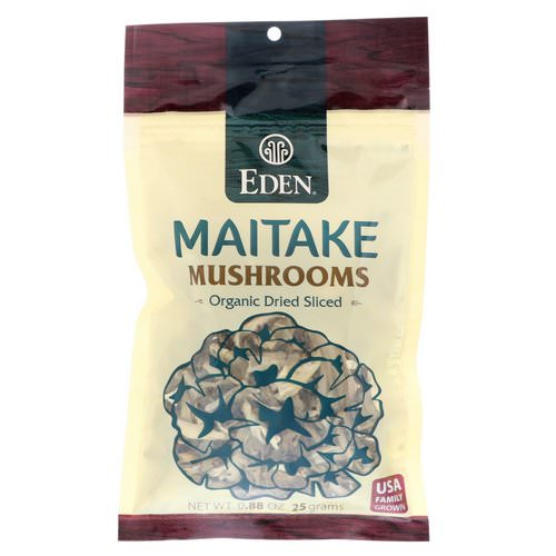 Eden Foods, Maitake Mushrooms, Organic Dried Sliced, 0.88 oz (25 g) Review