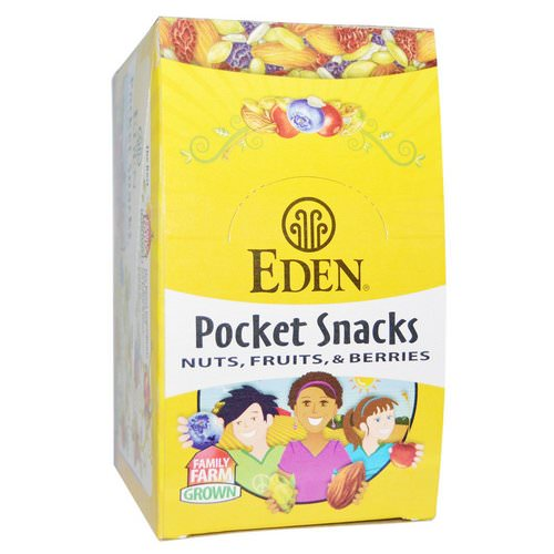 Eden Foods, Organic, Pocket Snacks, Pumpkin Seeds, Dry Roasted, 12 Packages, 1 oz (28.3 g) Each Review