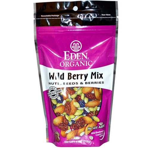 Eden Foods, Organic, Wild Berry Mix, Nuts, Seeds & Berries, 4 oz (113 g) Review