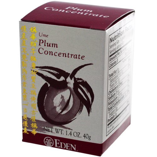 Eden Foods, Ume Plum Concentrate, 1.4 oz (40 g) Review