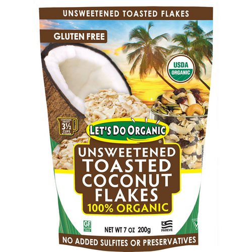 Edward & Sons, Let's Do Organic, 100% Organic Unsweetened Toasted Coconut Flakes, 7 oz (200 g) Review