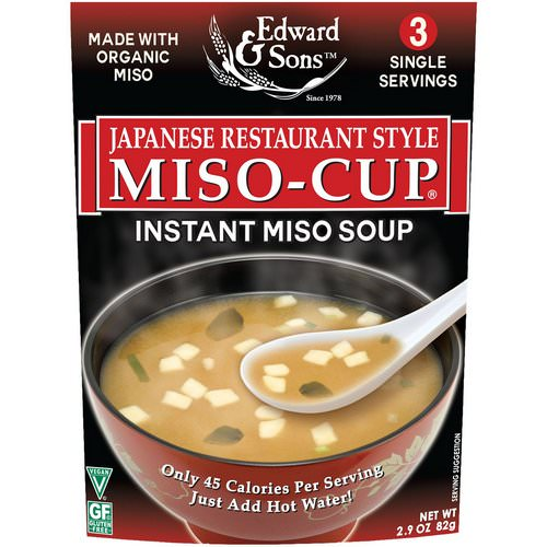 Edward & Sons, Miso-Cup, Japanese Restaurant Style, 3 Individual Servings Review