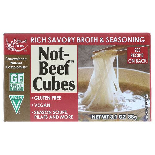 Edward & Sons, Not-Beef Cubes, 3.1 oz (88 g) Review