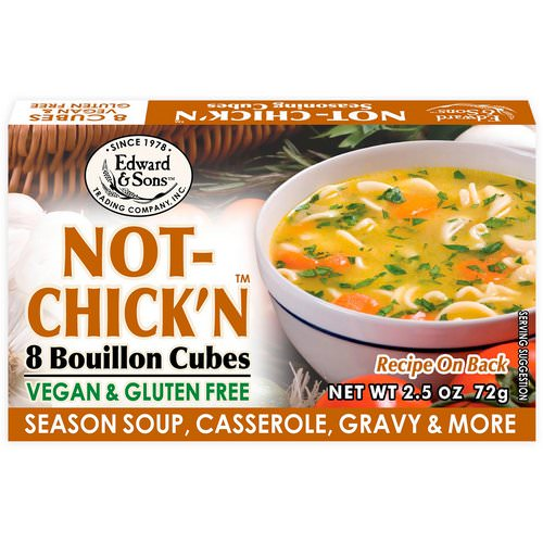 Edward & Sons, Not-Chick'n, Bouillon Cubes, 8 Cubes Review