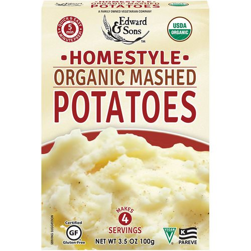 Edward & Sons, Organic Mashed Potatoes, Home Style, 3.5 oz (100 g) Review