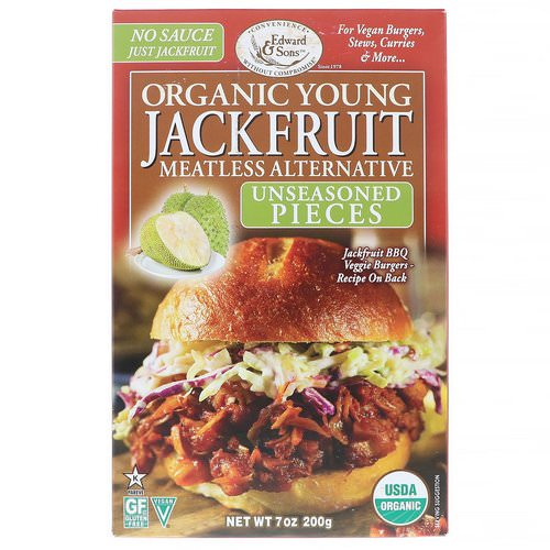 Edward & Sons, Organic Young Jackfruit, Unseasoned Pieces, 7 oz (200 g) Review