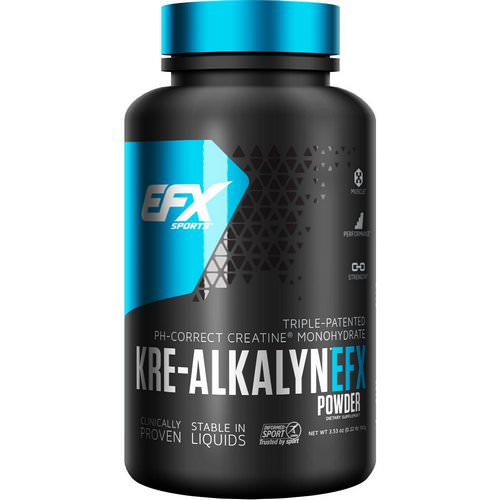 EFX Sports, Kre-Alkalyn Powder, Pre & Post-Workout, 100 g Review