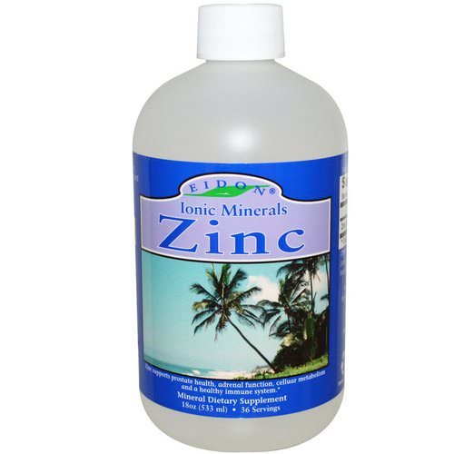 Eidon Mineral Supplements, Ionic Minerals, Zinc, 18 oz (533 ml) Review