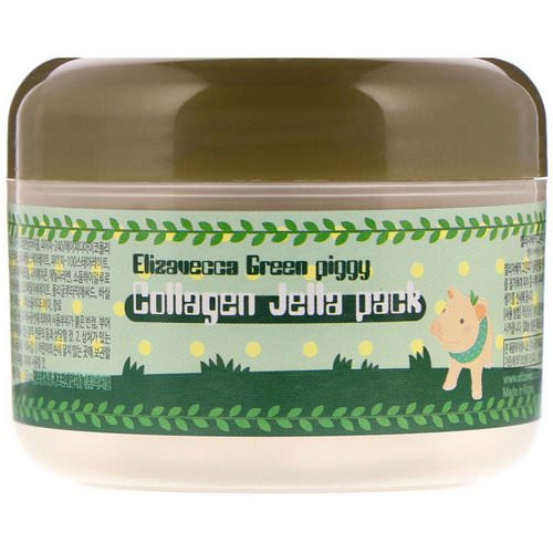 Elizavecca, Green Piggy, Collagen Jelly Pack, 3.53 oz (100 g) Review