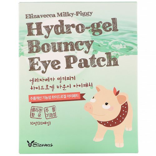 Elizavecca, Milky Piggy, Hydro-gel Bouncy Eye Patch, 10 Pairs Review