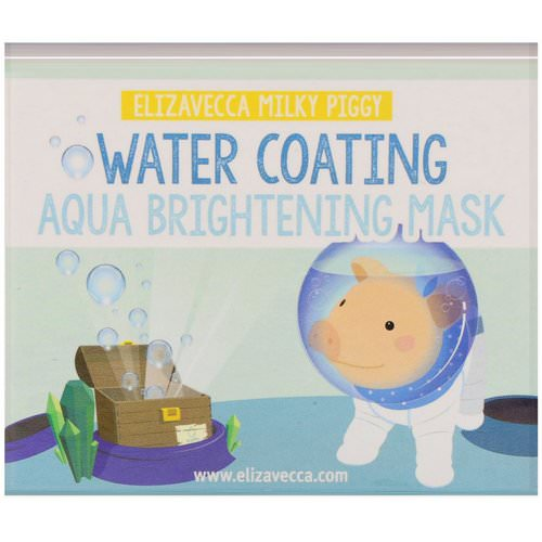 Elizavecca, Milky Piggy, Water Coating Aqua Brightening Mask, 3.53 oz (100 g) Review