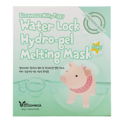 Elizavecca, Milky Piggy, Water Lock Hydro-Gel Melting Mask, 5 Sheets, 1.06 oz (30 g) Each Review