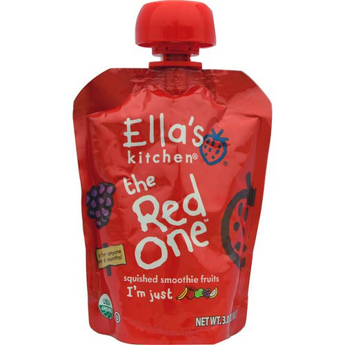 Ella's Kitchen, The Red One, Squished Smoothie Fruits, 3 oz (85 g) Review