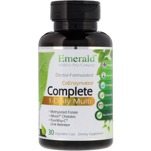 Emerald Laboratories, CoEnzymated Complete 1-Daily Multi, 30 Vegetable Caps Review