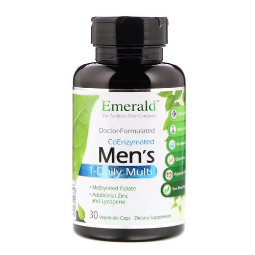 Emerald Laboratories, CoEnzymated Men's 1-Daily Multi, 30 Vegetable Caps Review
