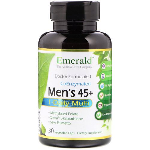 Emerald Laboratories, Men's 45+ 1-Daily Multi Vit-A-Min, 30 Veggie Caps Review