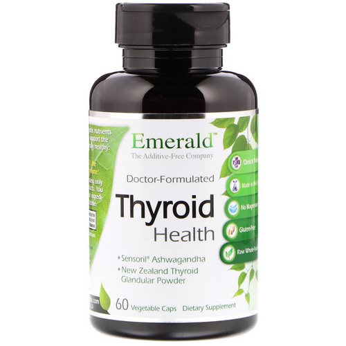 Emerald Laboratories, Thyroid Health, 60 Vegetable Caps Review