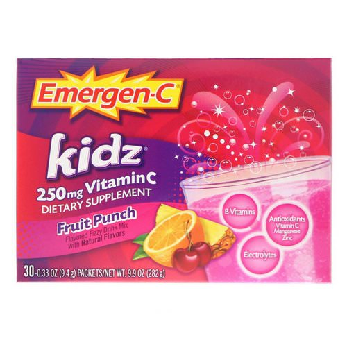 Emergen-C, Kidz, Fruit Punch, 30 Packets, 9.7 oz (276 g) Review